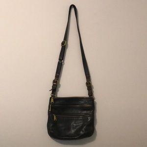 Fossil crossbody purse black leather